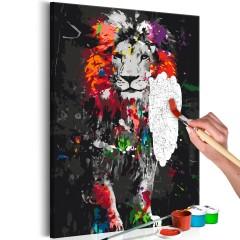 Malen nach Zahlen - Colourful Animals: Lion
