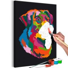 Malen nach Zahlen - Colourful Dog