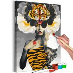 Malen nach Zahlen - Eye of the Tiger