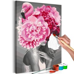 Malen nach Zahlen - Flamingo Girl