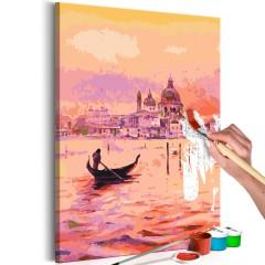 Malen nach Zahlen - Gondola in Venice