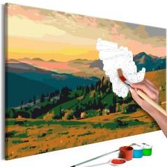 Malen nach Zahlen - Große Felder (Landschaft Panorama)