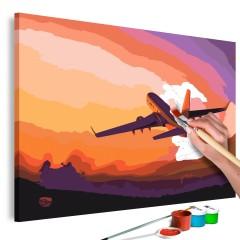Malen nach Zahlen - Plane in the Sky