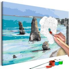 Malen nach Zahlen - Rocks in the Sea