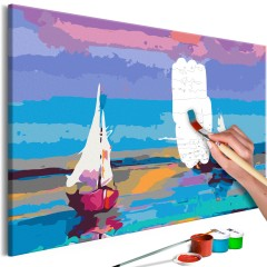 Malen nach Zahlen - Sea Landscape