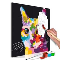 Malen nach Zahlen - Spotted Cat
