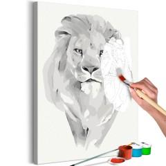 Malen nach Zahlen - White Lion