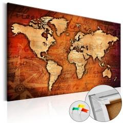 Artgeist Korkbild - Amber World [Cork Map]