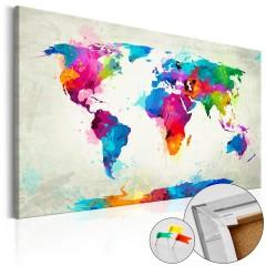 Artgeist Korkbild - An Explosion of Colors [Cork Map]