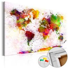 Artgeist Korkbild - Artistic World [Cork Map]