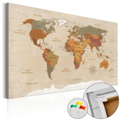 Artgeist Korkbild - Beige Chic [Cork Map]