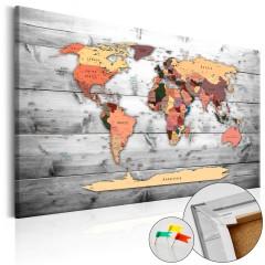 Artgeist Korkbild - Direction World [Cork Map]