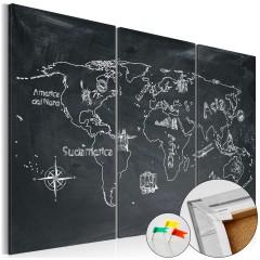 Artgeist Korkbild - Geography lesson [Cork Map]