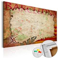 Artgeist Korkbild - Map of Barcelona [Cork Map]