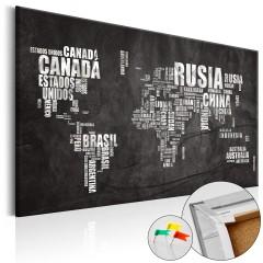 Artgeist Korkbild - Mundo Negro [Cork Map]