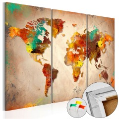 Artgeist Korkbild - Painted World [Cork Map]