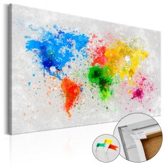 Artgeist Korkbild - Pinnwand Bild: Weltweiter Expressionismus