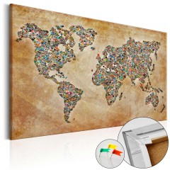 Artgeist Korkbild - Postcards from the World [Cork Map]