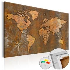 Artgeist Korkbild - Rusty World [Cork Map]