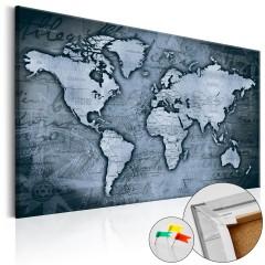 Artgeist Korkbild - Sapphire World [Cork Map]