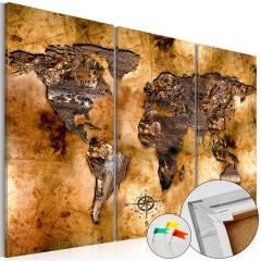 Artgeist Korkbild - Shade of Gold [Cork Map]