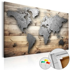 Artgeist Korkbild - Silver World [Cork Map]
