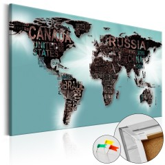 Artgeist Korkbild - Subtlety of the World [Cork Map]