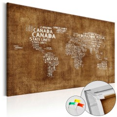 Artgeist Korkbild - The Lost Map [Cork Map - Italian Text]
