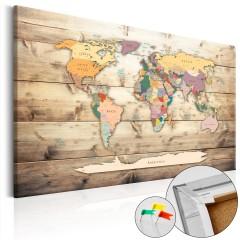 Artgeist Korkbild - The World at Your Fingertips [Cork Map]