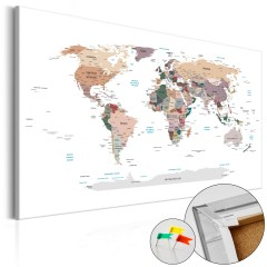 Artgeist Korkbild - Where Today? [Cork Map]