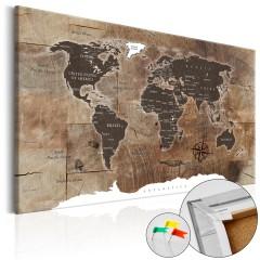 Artgeist Korkbild - Wooden Mosaic [Cork Map]