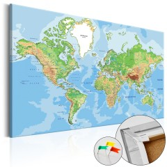 Artgeist Korkbild - World Geography [Cork Map]