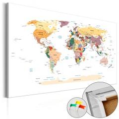 Artgeist Korkbild - World Map [Cork Map]
