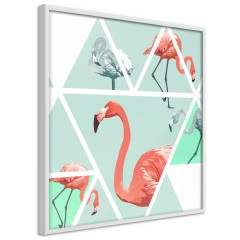 Poster - Geometric Flamingos - Square [Poster]