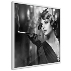Poster - Lady with Cigarette [Poster]