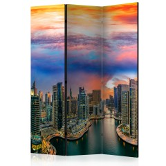 Artgeist 3-teiliges Paravent - Afternoon in Dubai [Room Dividers]