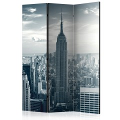 Artgeist 3-teiliges Paravent - Amazing view to New York Manhattan at sunrise [Room Dividers]