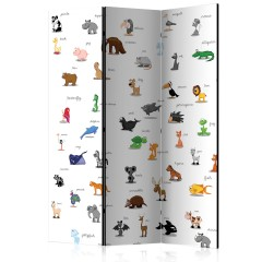 Artgeist 3-teiliges Paravent - animals (for children) [Room Dividers]
