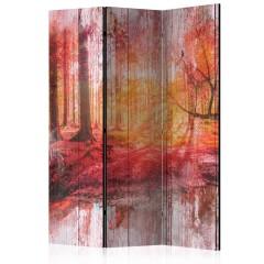 Artgeist 3-teiliges Paravent - Autumnal Forest [Room Dividers]