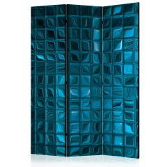 Artgeist 3-teiliges Paravent - Azure Mosaic [Room Dividers]