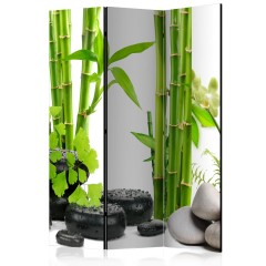 Artgeist 3-teiliges Paravent - Bamboos and Stones [Room Dividers]