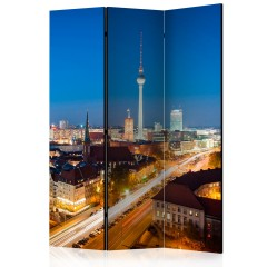 Artgeist 3-teiliges Paravent - Berlin by night [Room Dividers]