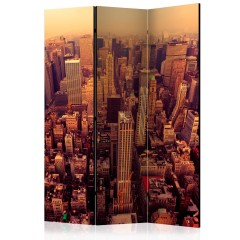 Artgeist 3-teiliges Paravent - Bird Eye View Of Manhattan, New York [Room Dividers]