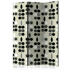 Artgeist 3-teiliges Paravent - Black and White Dots [Room Dividers]