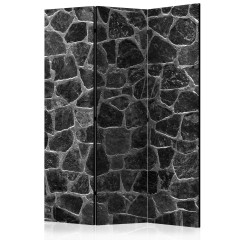 Artgeist 3-teiliges Paravent - Black Stones [Room Dividers]