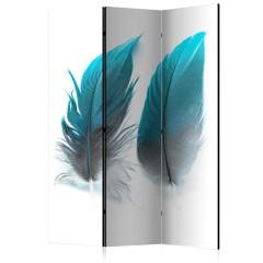 Artgeist 3-teiliges Paravent - Blue Feathers [Room Dividers]