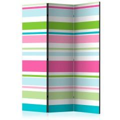 Artgeist 3-teiliges Paravent - Bright stripes [Room Dividers]