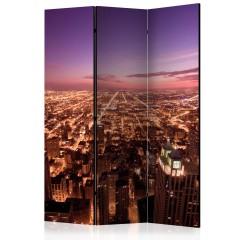 Artgeist 3-teiliges Paravent - Chicago Panorama [Room Dividers]