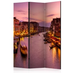 Artgeist 3-teiliges Paravent - City of lovers, Venice by night [Room Dividers]