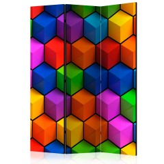 Artgeist 3-teiliges Paravent - Colorful Geometric Boxes [Room Dividers]